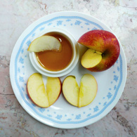 Apple Slices with Two Ingredient Caramel Dip