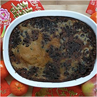 Nian Gao Chinese New Year Cake with Red Bean Paste