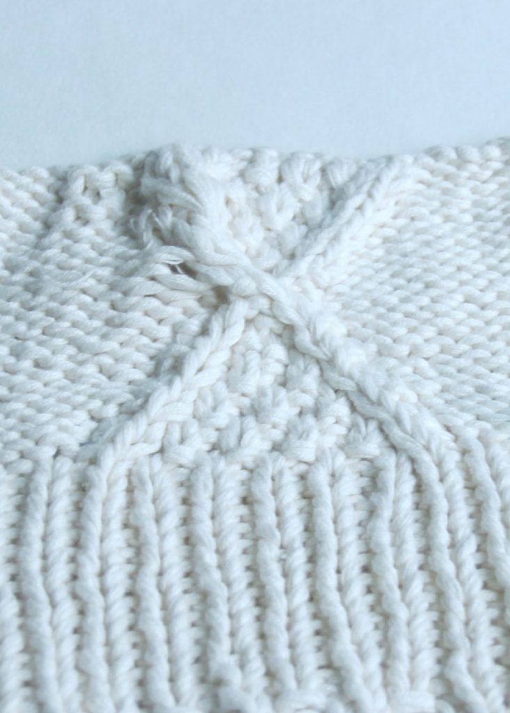 Moss Stitch Diamond