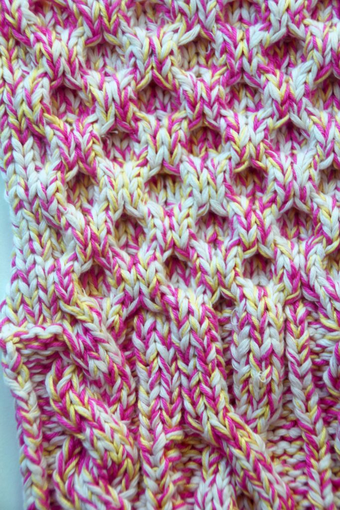 Close Up of Knitted Swatch