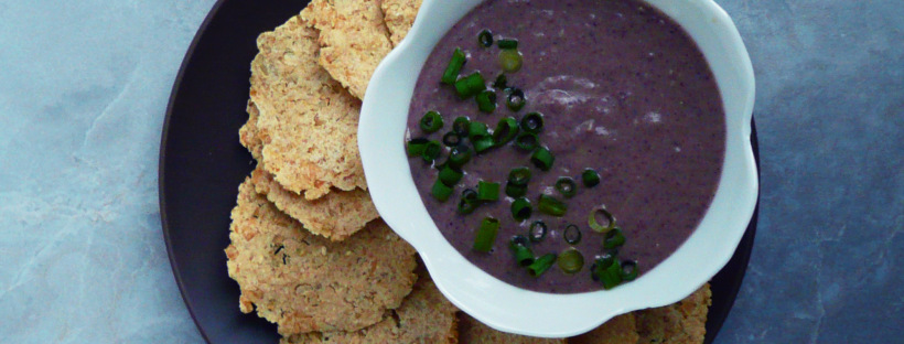 Creamy Lemon Garlic Black Bean Dip