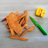 my tips and techniques for cutting sweet potatoes