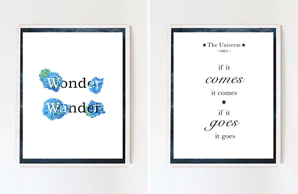 wonder wander comes + goes