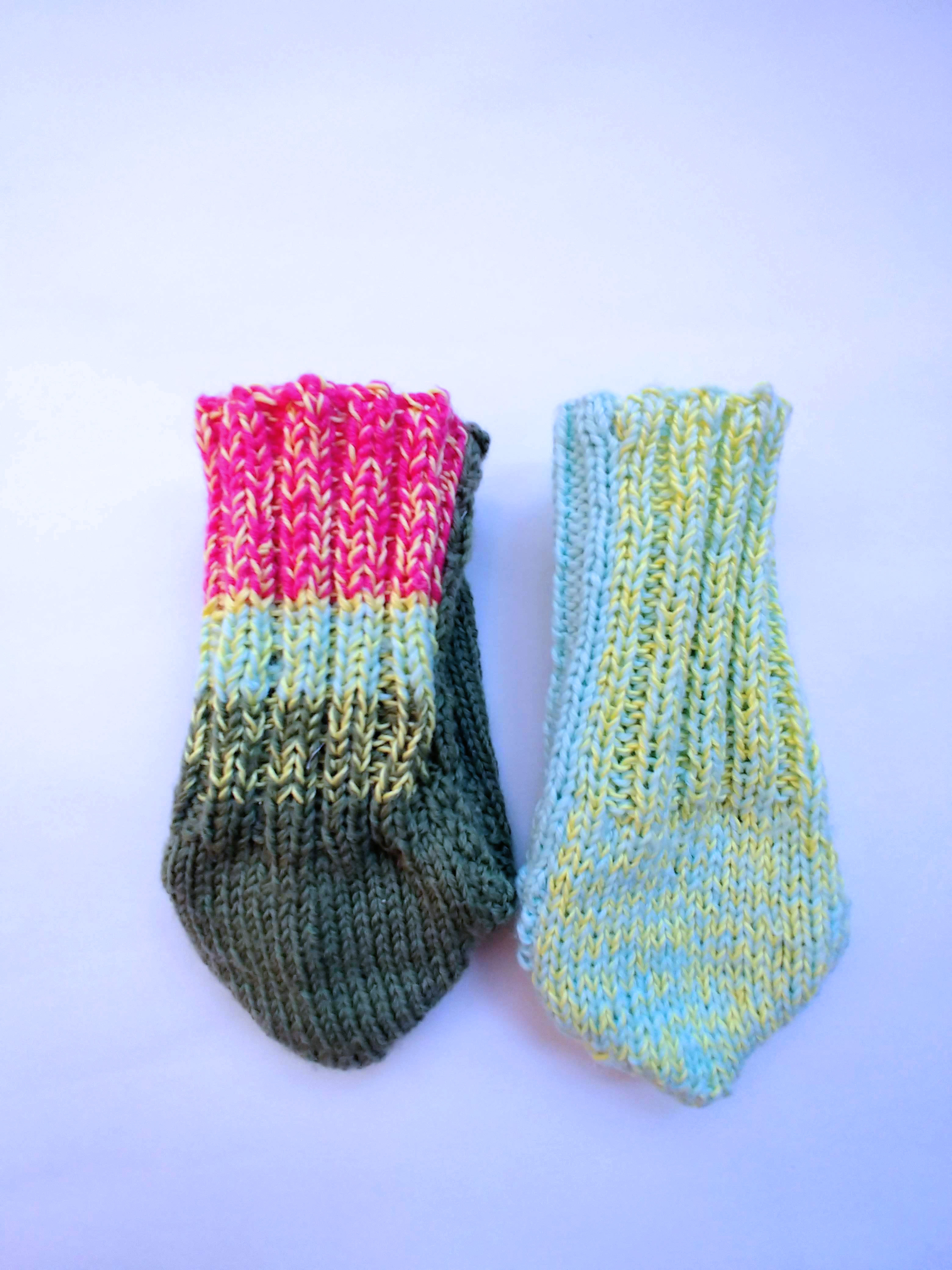 Back of Socks - Blue and Green
